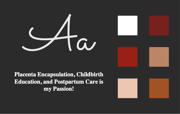 Jovial Birth Colors and font